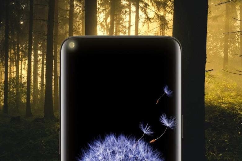 màn hình nốt ruồi trang bị trên samsung a8s