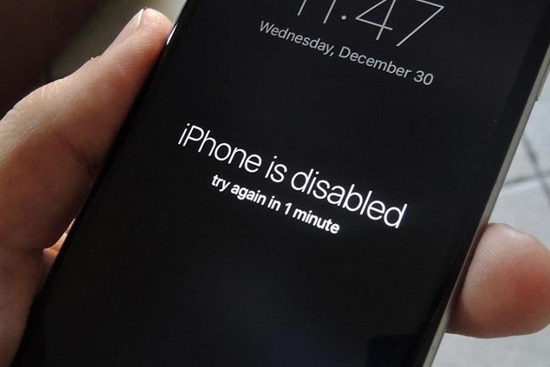 iPhone bị vô hiệu hoá