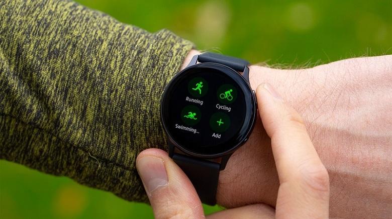 tập luyện trên Galaxy Watch Active 2