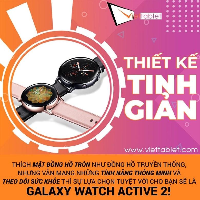 thiết kế Galaxy Watch Active 2