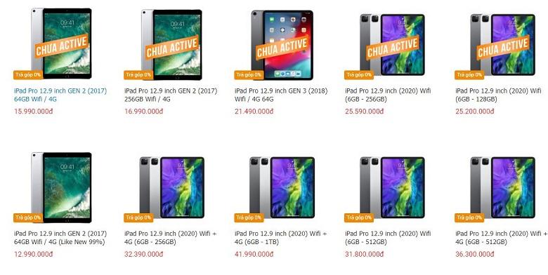 giá iPad Pro 12.9