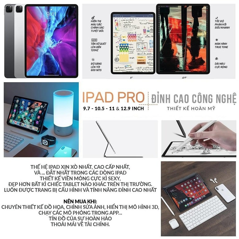 Những ưu điểm nổi bật của iPad Pro Series