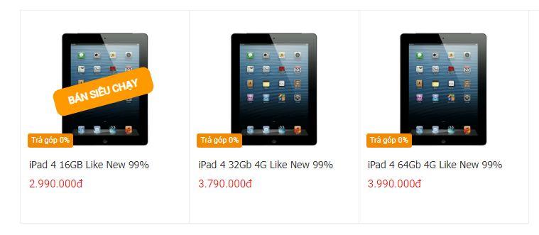 giá iPad 4
