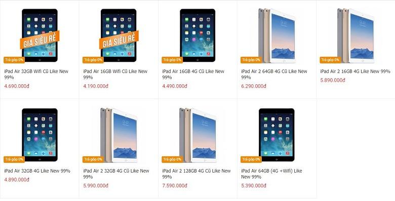 giá iPad Air