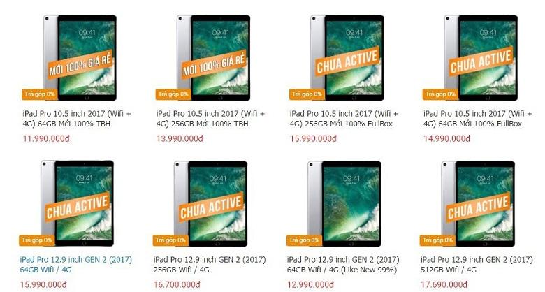 giá iPad Pro 2017