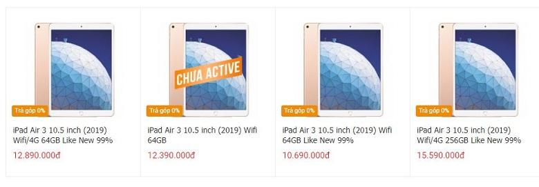 giá iPad Air 3