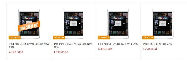 giá iPad Mini 3