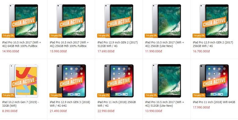 giá giá iPad Pro 1