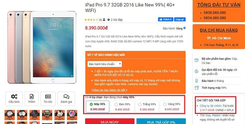 giá iPad Pro 2016