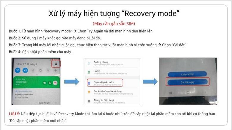 Cách fix lỗi treo Recovery