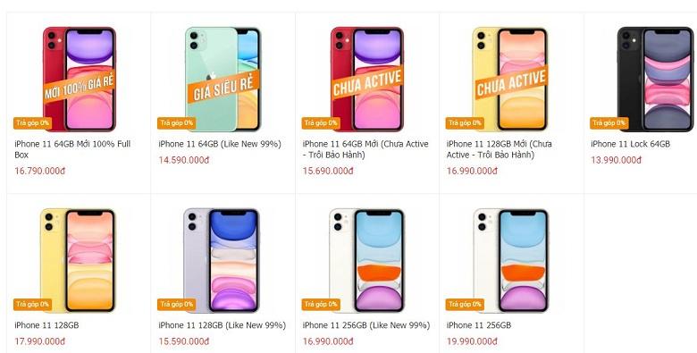 giá iPhone 11