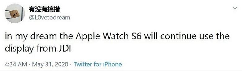thông tin về Apple Watch S6
