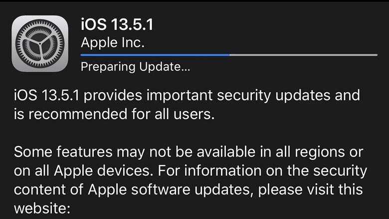 cập nhật iOS 13.5.1