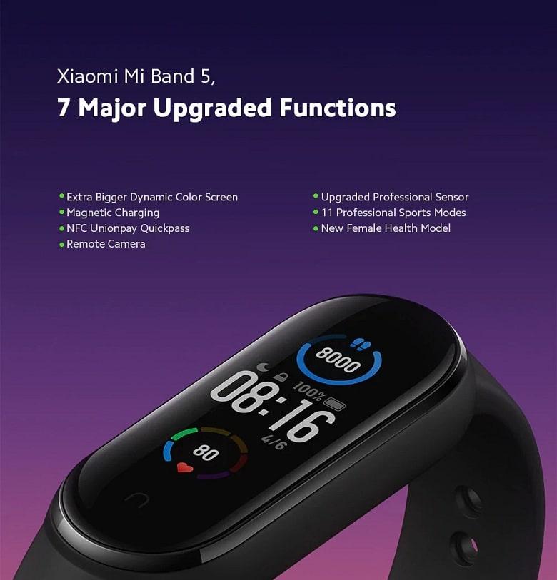 chức năng Xiaomi Mi Band 5