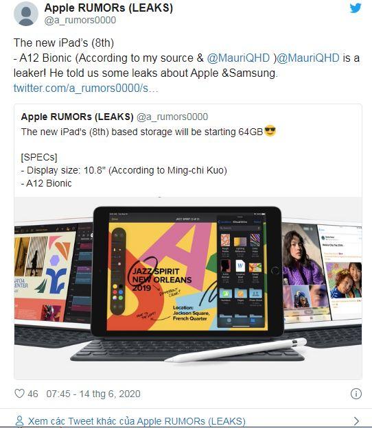 thông tin iPad 8