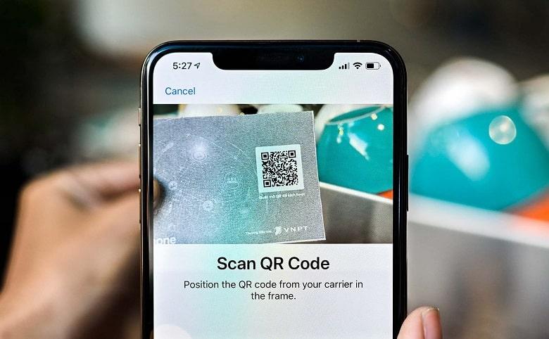 scan qr code iPhone 11 Lock