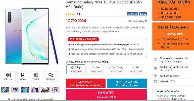 Đặt mua Galaxy Note 10 Plus 5G