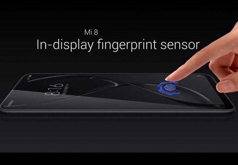 Xiaomi Mi 8 cảm biến vân tay dưới màn hình