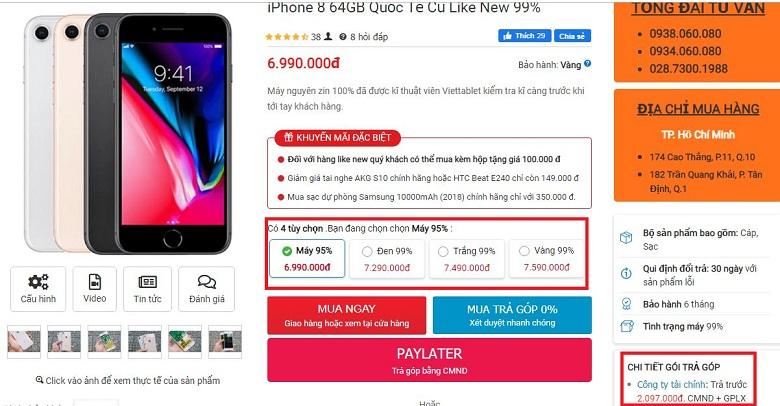 Đặt mua iPhone 8
