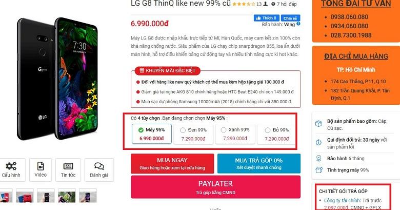 Đặt mua LG G8 ThinQ