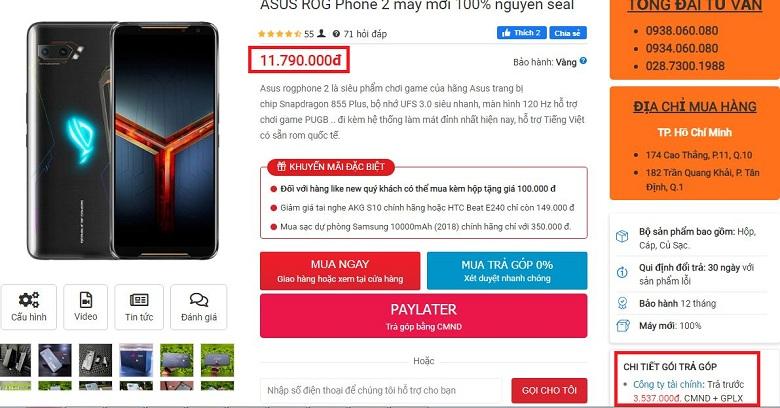 Đặt mua ASUS ROG Phone 2