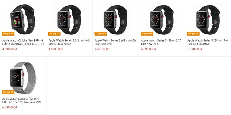 Đặt mua Apple Watch Series 3