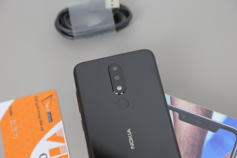 nokia x5 2018 đập hộp camera