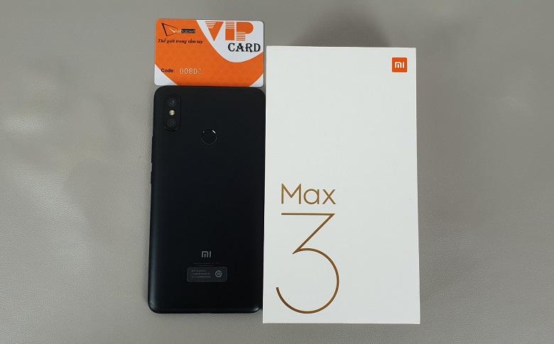 xiaomi mi max 3 mở hộp mặt lưng