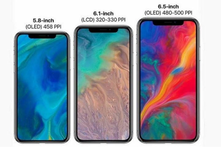 hình ảnh render iphone 2018