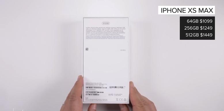 mặt sau và cấu hình của iphone xs max