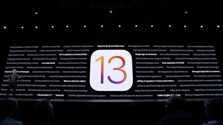 ios 13 beta ra mắt