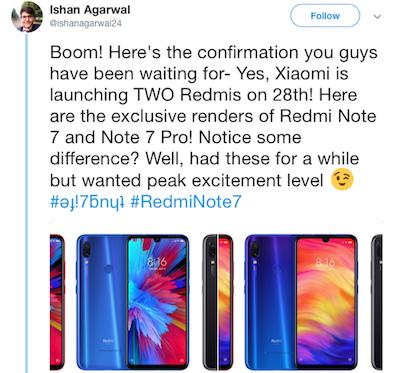công ty ấn độ xác nhận ngày ra mắt của xiaomi redmi note 7