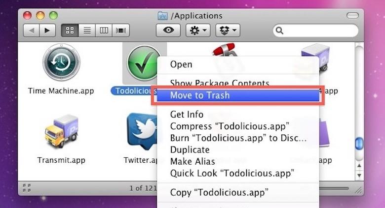 xoá ứng dụng rác trong macbook rất đơn giản