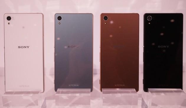 Sony Xperia Z4 có 4 màu đen, vàng đồng và xanh nhạt