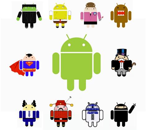 Chú robot màu xanh lá được chọn làm biểu tượng đại diện cho Android từ năm 2007.