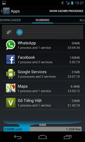 smartphone android chậm dần và cách khắc phục 1