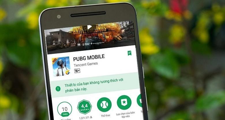 Tải game pubg, pes bị chặn trên android