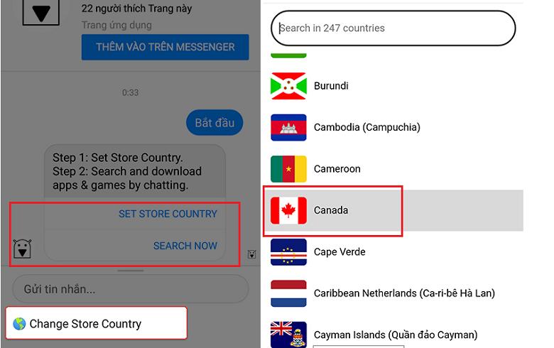 Tải game pubg, pes bị chặn trên android chọn quốc gia