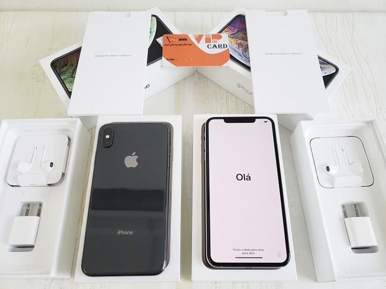 Hình ảnh mở hộp iPhone XS Max Lock Mới