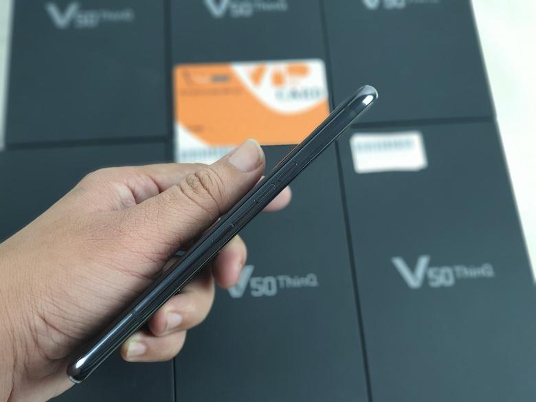 cạnh trái của LG V50 ThinQ 5G xách tay