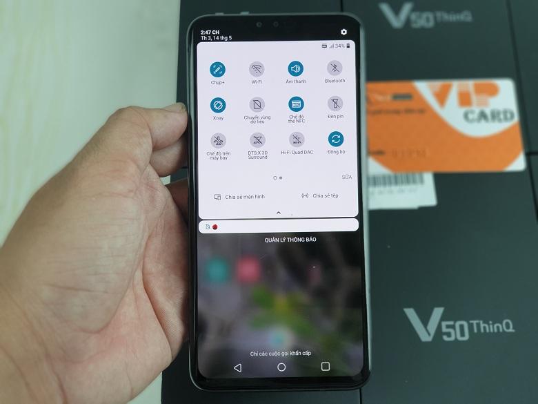 Hiệu năng của LG V50 ThinQ 5G