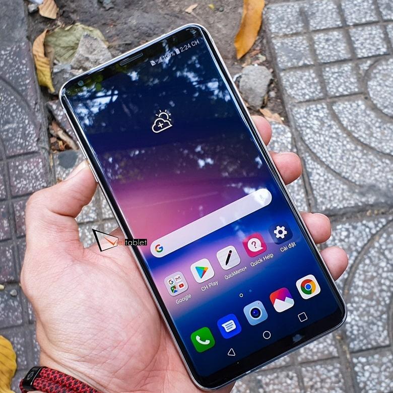 Hình ảnh màn hình hiển thị của LG V30 Plus