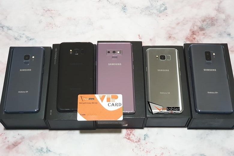 Galaxy S8, S8+, S9+, Note 8, Note 9 Mỹ Mới Fullbox cập bến Viettablet
