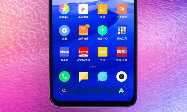 ận cảnh phần viền màn hình dưới của Xiaomi Redmi Note 8 Pro