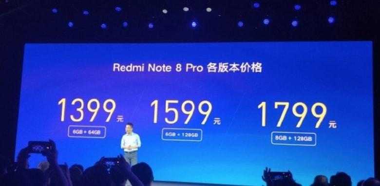giá của Xiaomi Redmi Note 8 Pro