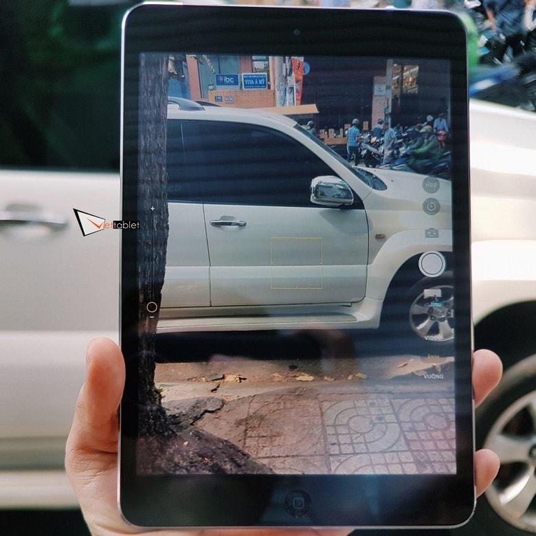 giao diện chụp ảnh của iPad Mini 2 Cũ