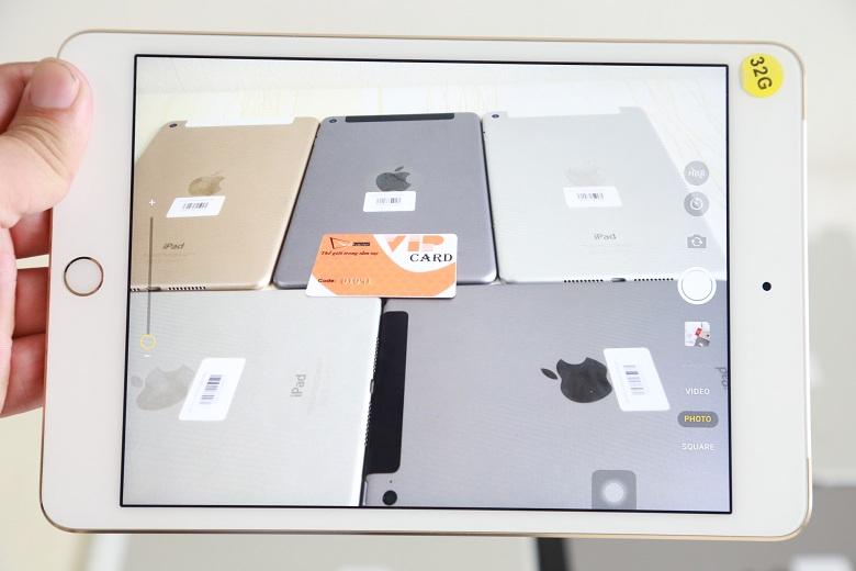 Đây là hình ảnh giao diện chụp ảnh của iPad Mini 4 16GB