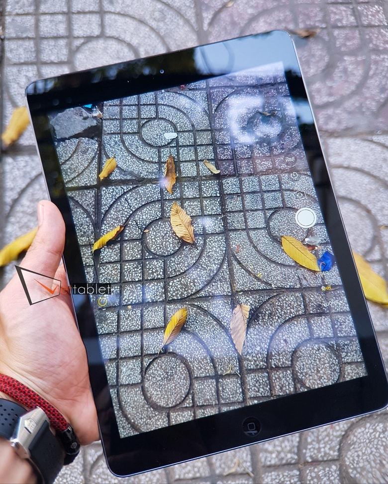 giao diện chụp ảnh của iPad Air cũ