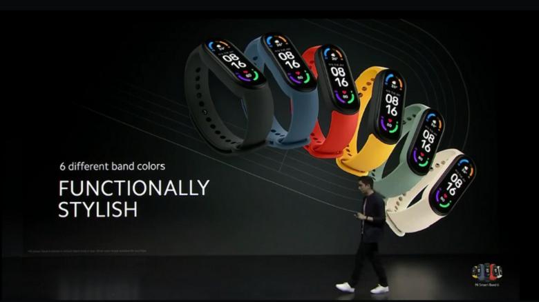 Xiaomi Mi Band 6 chính hãng thiết kế