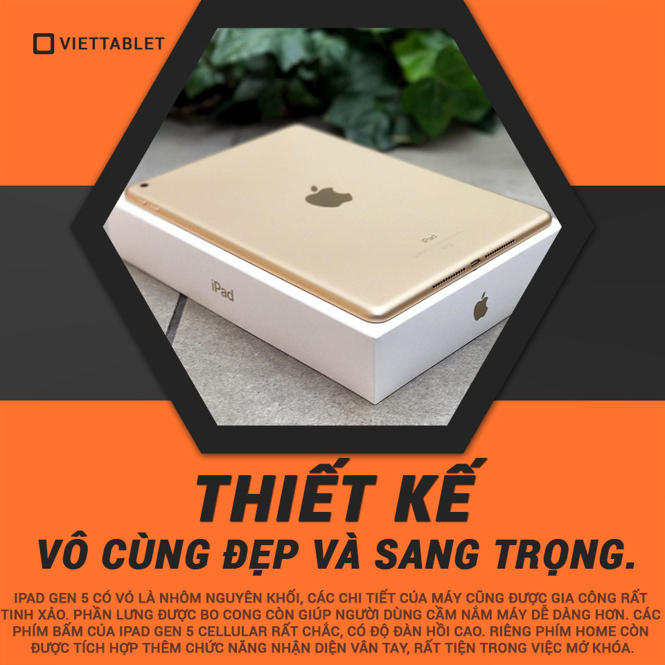thiết kế iPad Gen 5